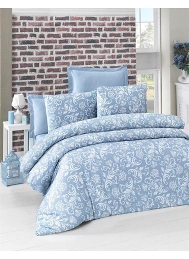 Komfort Home Tek Kişilik Exclusive Deluxe Saten Nevresim Takımı (Blue) Mavi